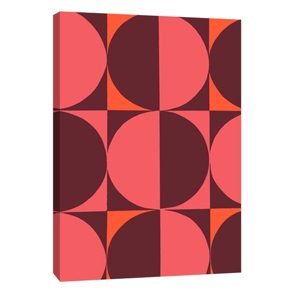 "PTM Images 9-108743 PTM Canvas Collection 10"" x 8"" - ""Monochrome Patterns 5 in Red"" Giclee Abstract Art Print on Canvas"