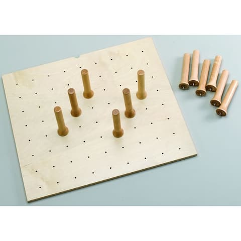 Rev-A-Shelf 4DPS-2421 4DPS Series Small Trimmable Drawer Peg Board with 9 Pegs -