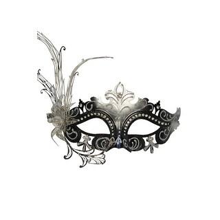 Pure Seasons Farfalla Fiore Masquerade Mask (Black/Silver) - Multi