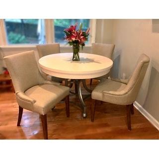 Safavieh En Vogue Dining Becca Beige Viscose Walnut Finish Dining Chair