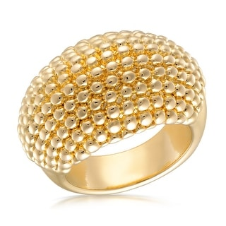 Link to Forever Last 18 kt Gold Plated Women's Textured Dome Ring Similar Items in Rings