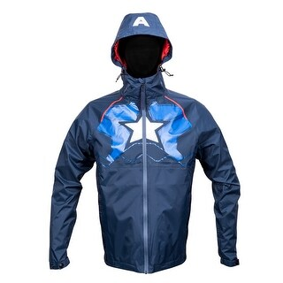 Marvel Captain America Zip Raincoat Hooded Jacket