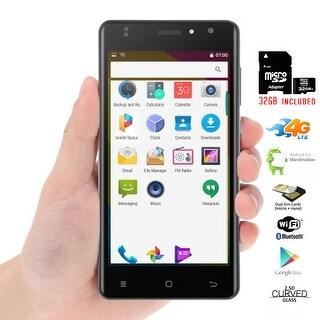 "Indigi Unlocked Indigi Curved 5.0"" QuadCore 4G Android 6.0 SmartPhone + 32gb included - Black"