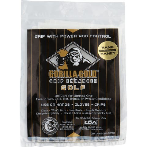 Gorilla Gold Reusable Tackifying Golf Grip Enhancer Towel - One Size