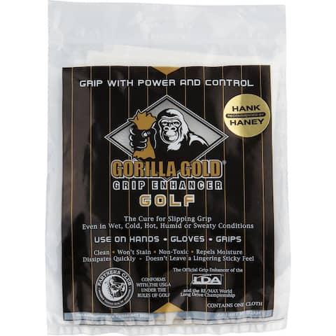 Gorilla Gold Reusable Tackifying Golf Grip Enhancer Towel - One Size