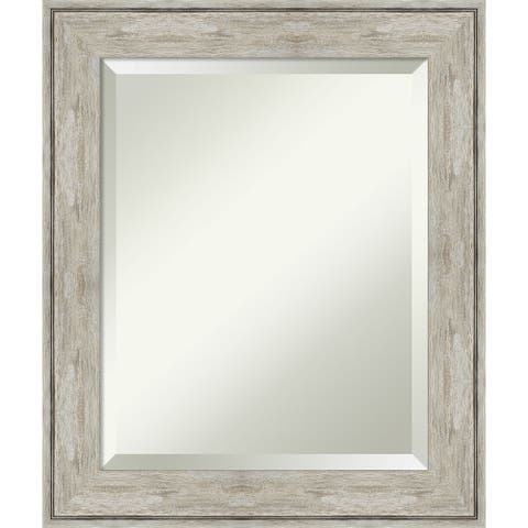 Crackled Metallic Bathroom Vanity Wall Mirror