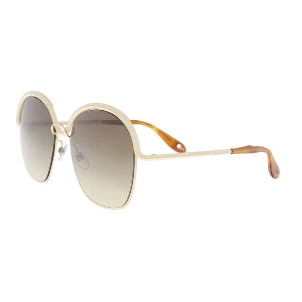 675f207e68c Shop Givenchy GV7030S 0J1O Gold Beige Oval Sunglasses - 58-17-140 ...