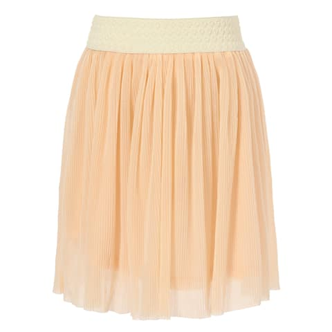 Richie House Girls' woven lace skirt with elastic waist band
