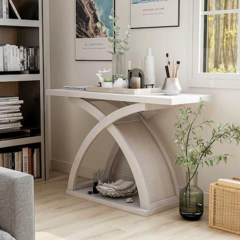 Furniture of America Moa Contemporary Wood Sofa Table
