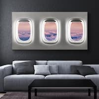 IKONICK Window Seat ( Clouds Edition ) Canvas Art