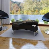 vidaXL Coffee Table Shape-Adjustable High Gloss Black