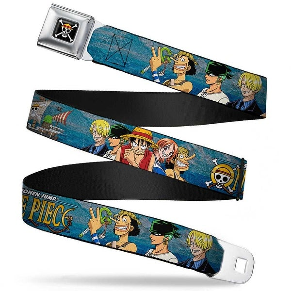 One Piece Skull Logo Full Color One Piece Super Rookie Saga Character Group Seatbelt Belt