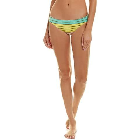 Trina Turk Lurex Stripe Bikini Bottom