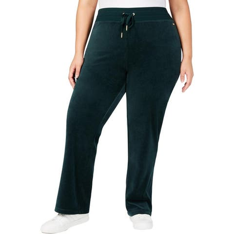 Calvin Klein Womens Plus Lounge Pants Velour Lightweight
