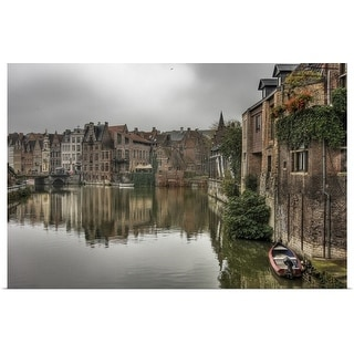 """""""Canal Ghent"""" Poster Print"""