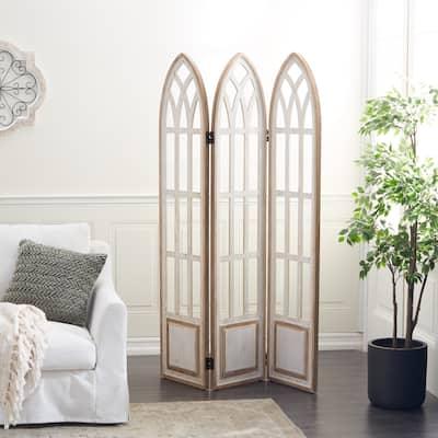 White Wood Farmhouse Room Divider Screen 72 x 48 x 2 - 48 x 2 x 72