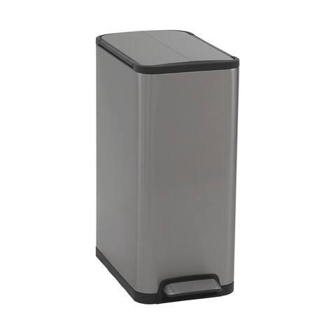 Household Essentials 30L Yueya Step Trash Can Bin, Stainless Steel