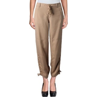 Lauren Ralph Lauren Womens Khaki Pants Woven Seamed