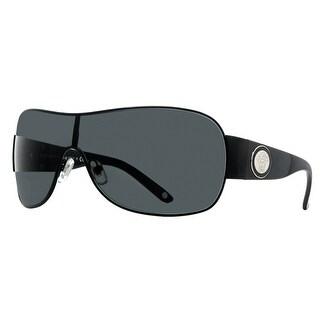 VERSACE Shield VE 2101 Women's 100987 BLACK Black Gray Sunglasses - 36mm-0mm-120mm