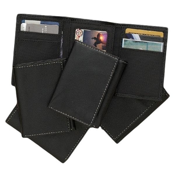 Nocona Western Wallet Men Quality Leather Trifold Nylon Black - One size