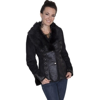 Scully Western Jacket Womens Long Sleeve Very Soft Faux Fur 8021