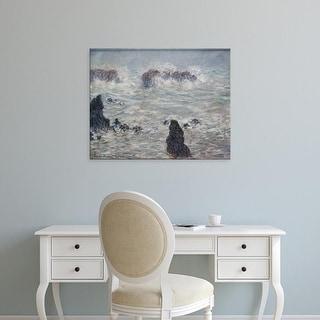 Easy Art Prints Claude Monet's 'Tempest' Premium Canvas Art