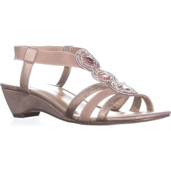 Karen Scott Womens casha Fabric Open Toe Special Occasion Slingback Sandals