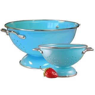Reston Lloyd Colander Set, 1qt and 3qt, Turquoise