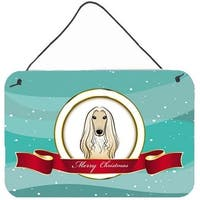 Afghan Hound Merry Christmas Wall and Door Hanging Prints