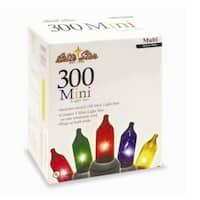 Set of 300 Super Bright Multi-Color Mini Christmas Lights - Green Wire - multi