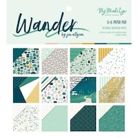 """My Mind's Eye Double-Sided Paper Pad 6""""X6"""" 24/Pkg-Wander, 12 Designs/2 Each"""