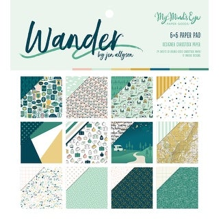 """Wander; 12 Designs/2 Each - My Mind's Eye Double-Sided Paper Pad 6""""X6"""" 24/Pkg"""