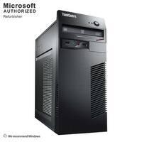 Lenovo ThinkCentre M73 Tower Intel Core I3 4130 3.4GHz, 4GB RAM, 250GB HDD, DVD, W10P(EN/ES)-1 Year Warranty(Refurbished)