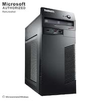 Lenovo ThinkCentre M73 Tower Intel Core I5 4570 3.2GHz, 4GB RAM, 250GB HDD, DVD, W10P(EN/ES)-1 Year Warranty(Refurbished)