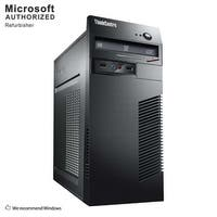 Lenovo ThinkCentre M73 Tower Intel Core I5 4570 3.2GHz, 8GB RAM, 320GB HDD, DVD, W10P(EN/ES)-1 Year Warranty(Refurbished)