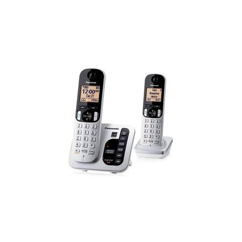 Panasonic KX-TGC222S 2 Handset Cordless Phone DECT 6.0 Technology (1.9GHz) New