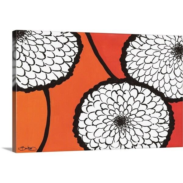 """""""Flowers in Unity - Orange"""" Canvas Wall Art"""