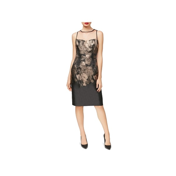 Betsey Johnson Womens Cocktail Dress Illusion Sleeveless