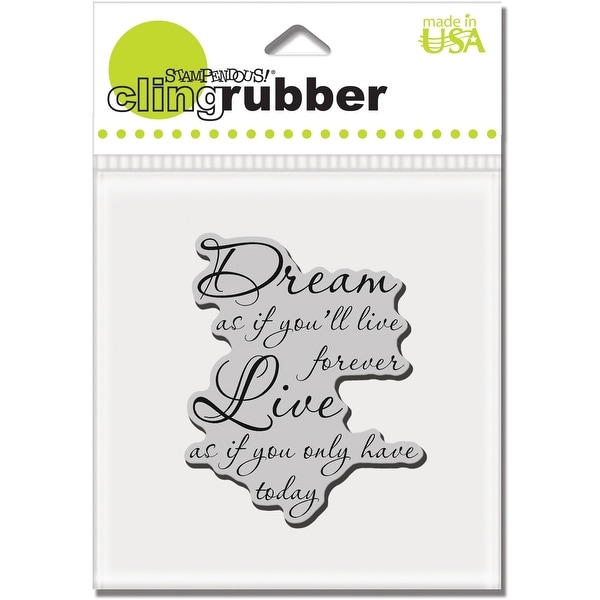 """Stampendous Cling Stamp 3.5""""X4"""" -Dream Forever"""