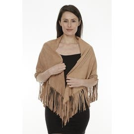 Women's Faux Suede Fringed Cape Shawl Wrap Scarf, Large Triangle|https://ak1.ostkcdn.com/images/products/is/images/direct/4d01ed3f704c28203305c89ff4ca3216c3a5533a/Women%27s-Faux-Suede-Fringed-Cape-Shawl-Wrap-Scarf%2C-Large-Triangle.jpg?impolicy=medium