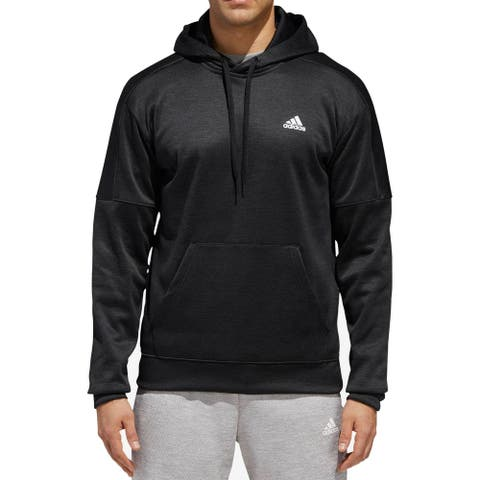 Adidas Mens Sweater Black Size Medium M Hooded Tech Pullover Bram Logo