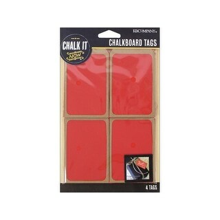 K&Co Chalk It Now Tag Wooden Red