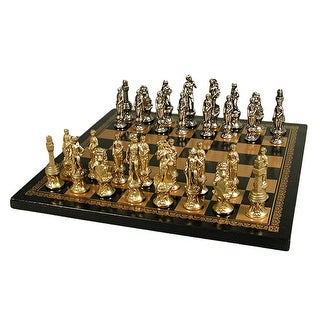 Florence Men Chess Set With Leather Board - Multicolored