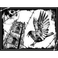 """The Crow - Crafty Individuals Unmounted Rubber Stamp 4.75""""X7"""" Pkg"""