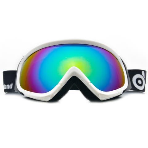ODOLAND Ski Goggles for Adult Man & Woman UV400 Protection Anti-Fog Double Grey Spherical Lens