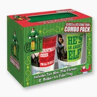Elf the Movie Rectangle Phrase Pin & Ice Cube Tray Combo Pack - multi