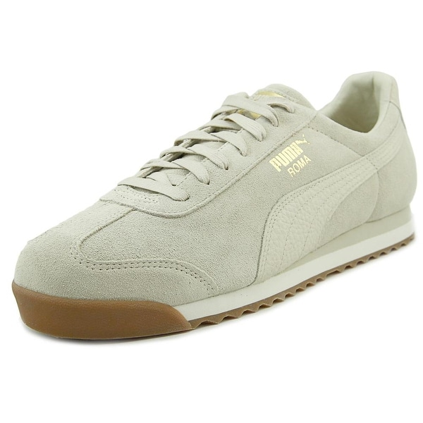 Puma Roma Natural Warmth Men Round Toe Suede Ivory Sneakers