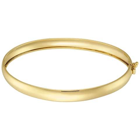Forever Last 10KT Gold Bonded over Silver Polished BangleBracelet