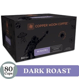 Copper Moon Coffee Single Serve Pods for Keurig K-Cup Brewers - Dark Roast Sumatra Blend Coffee - 80 Count