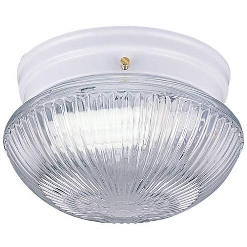 Sea Gull Lighting 5940BLE-15 Flush Mount with White Finish, Clear Glass Shades